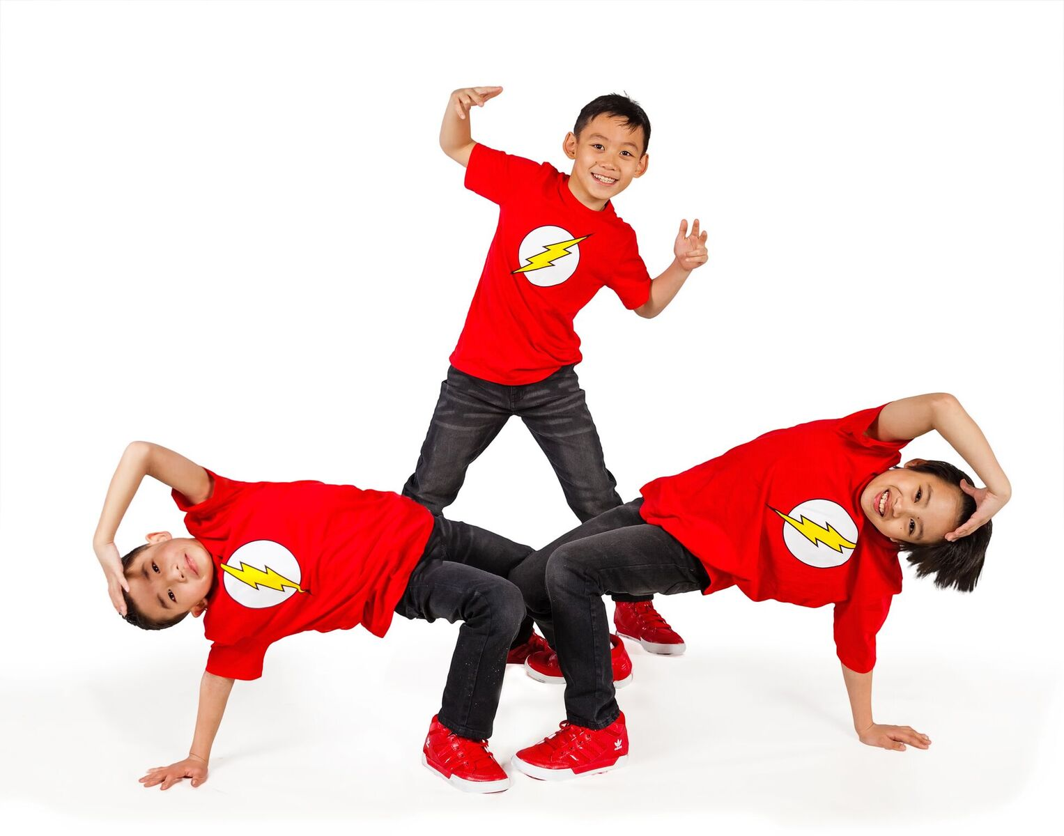 Young boys doing breakdance